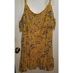 Torrid Yellow Flowery Dress, Size 2
